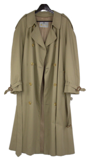 Aquascutum Tan Brown Trench Coat Size USA 44 R - secondfirst
