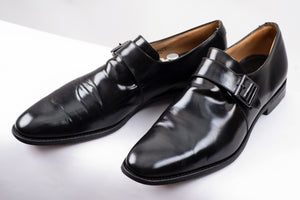 Church's Tokyo Black Leather Monk Strap Shoes, UK 11.5 F, USA 12.5