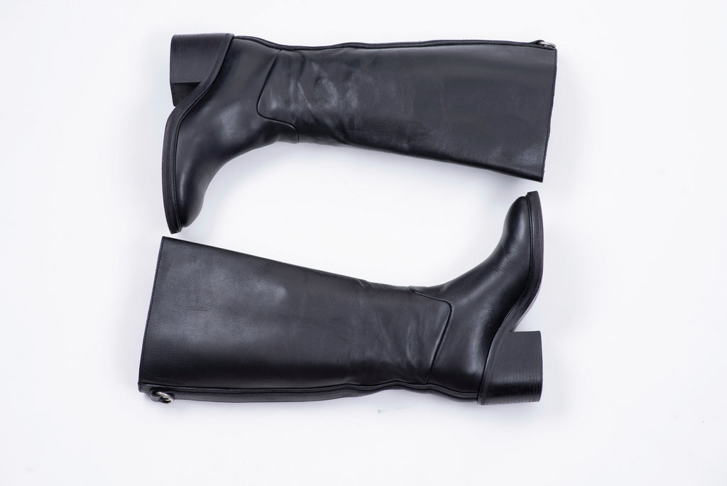 Acne Studios Egor Black Smooth Leather Boots, SIZE 36, USA 6