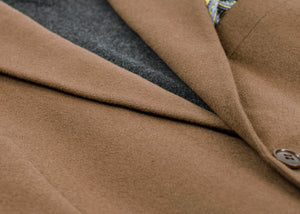 Brushed Brown Cashmere - Wool Blend by Loro Piana Blazer, USA 40R, EU 50