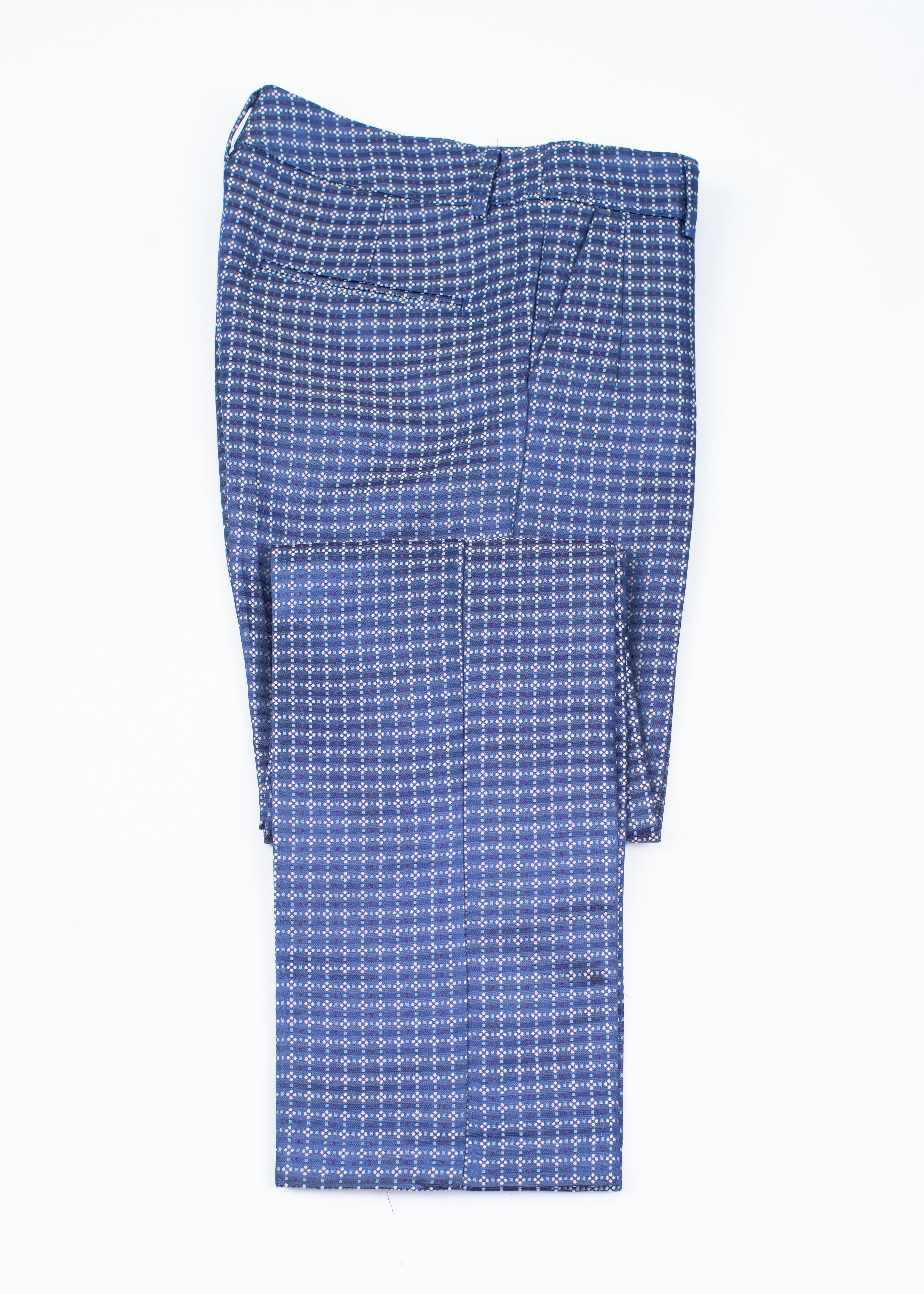 See by Chloe Blue Brocade Straight Leg Pants, XS