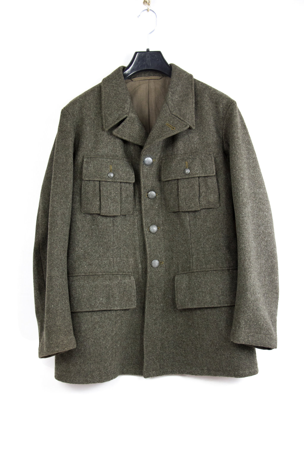 WW2 Swedish Military M39 Melton Wool Jacket, USA 38S - second_first