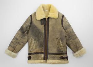 Vintage Unisex Type-B/Aviator Bomber Style Shearling Jacket - secondfirst
