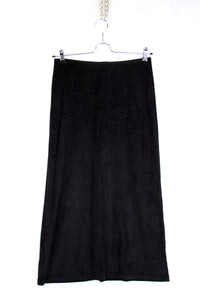 FENDI Maxi Velour Skirt With Deep Vent SIZE L - secondfirst