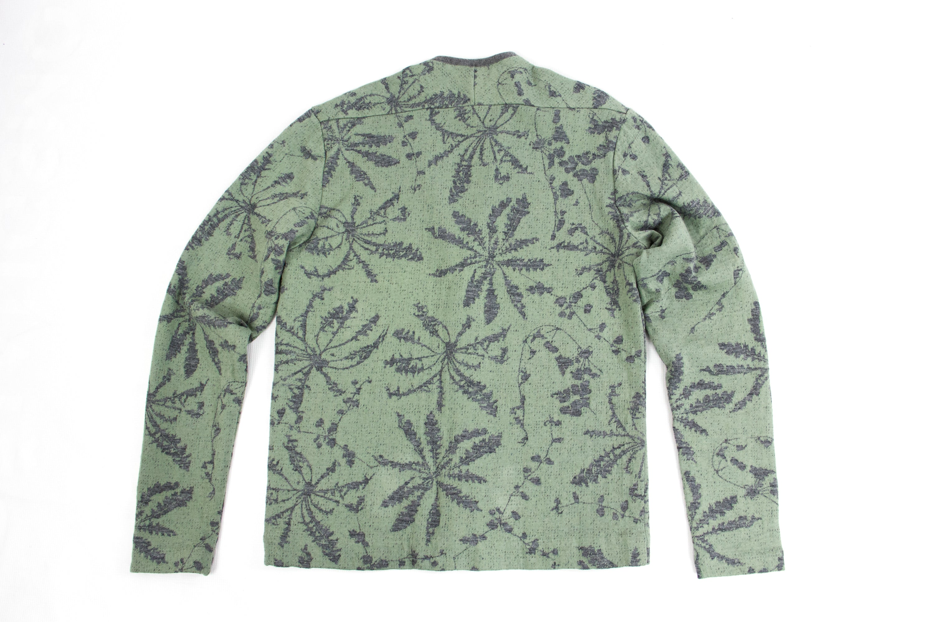 STEPHAN SCHNEIDER Wool-Cotton Blend Floral Print Green Cardigan SIZE L - secondfirst