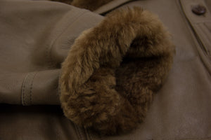Vintage Chunky Supple Sheepskin Leather Shearling Jacket, SIZE 42R - secondfirst