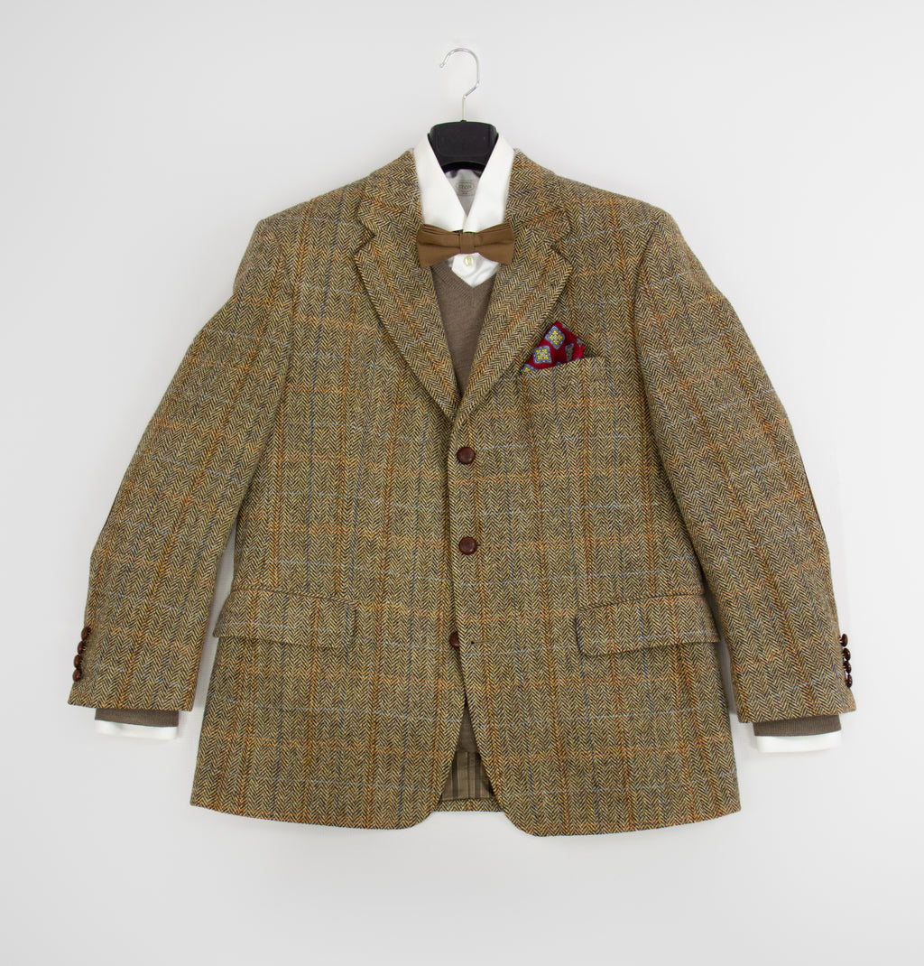 Harris Tweed Barutti Wool Blazer Jacket US 40S, EU 25 - secondfirst