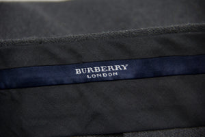 BURBERRY Gray Pleated Wool Blend Pants SIZE 42 - secondfirst