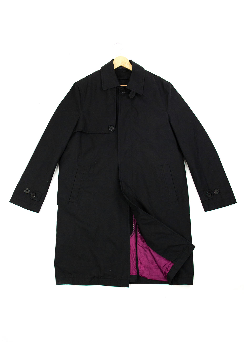 Ted Baker Endurance Black Trench Coat Mac US 40, EU 50 - secondfirst