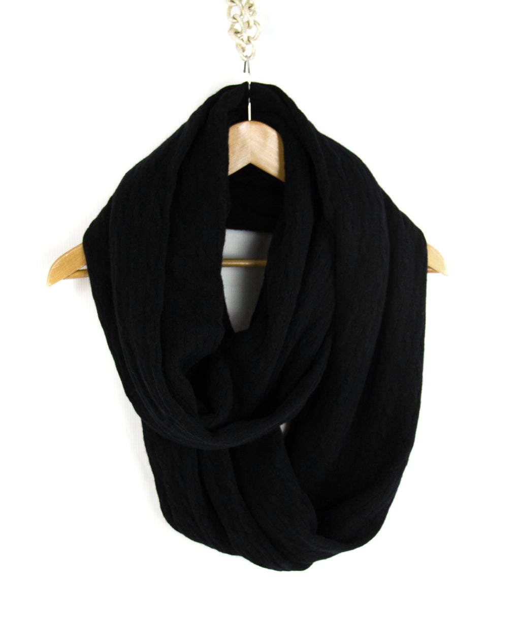 Ralph Lauren Cashmere Blend Cable Knit Snood Scarf - secondfirst