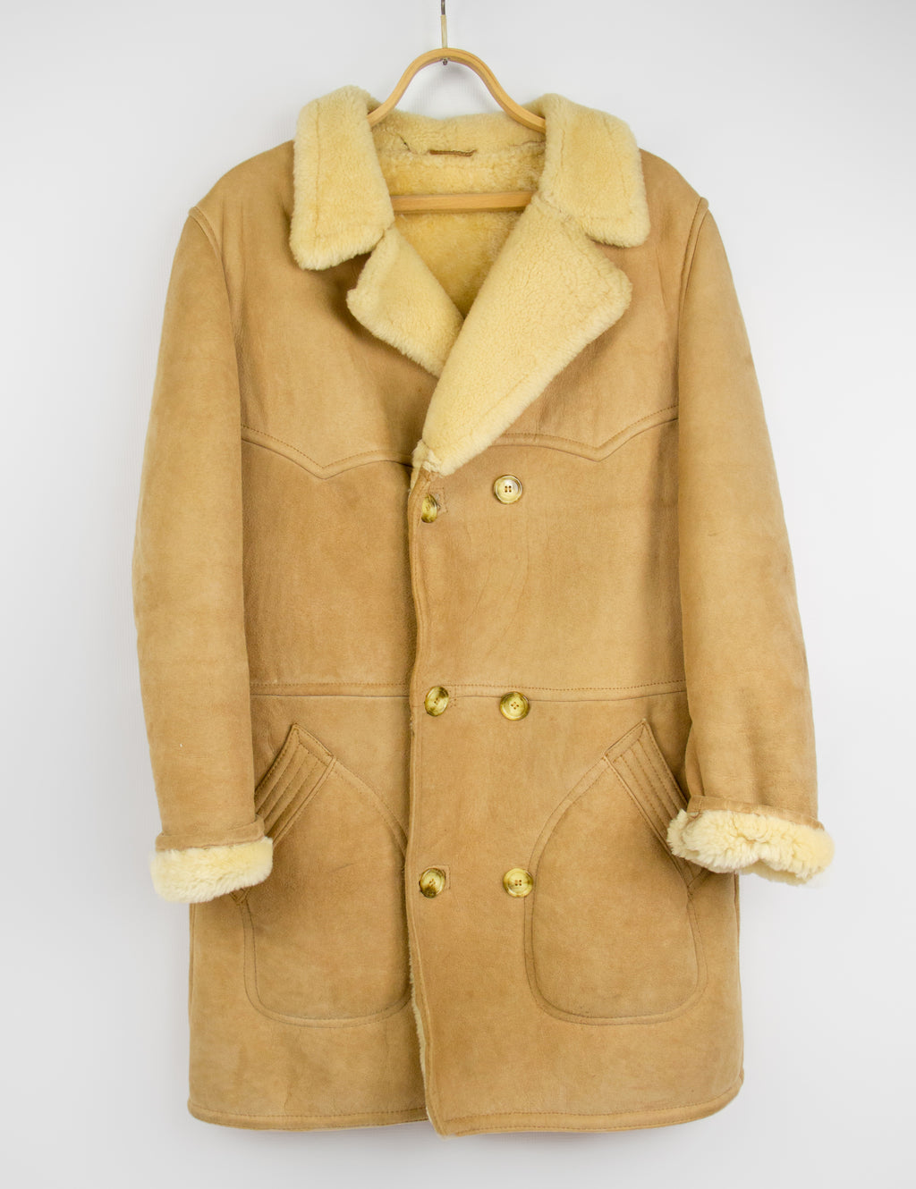 Vintage Chunky Double Faced Western Shearling Coat, SIZE 42 - second_first