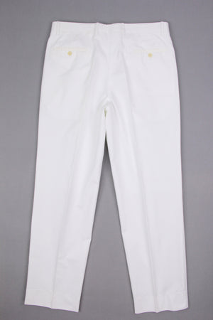 CERRUTI 1881 Men's White Double Pleated Dress Pants, EU 50