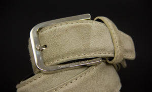 "Ermenegildo Zegna Suede Leather Belt, Size 36""/ 90 cm - secondfirst"
