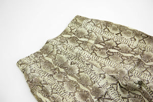 High Waist Snake Print Leather Pants SIZE S, US 6, EU 36 - secondfirst