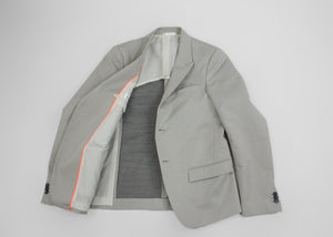 Jil Sander Light Gray Peaked Lapels Summer Blazer, US 38R, EU 48 - secondfirst