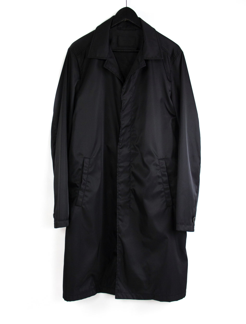 PRADA Black Mac Coat US 38, EU 48 - secondfirst