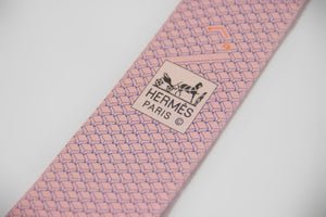 Hermes Heavy Twill Keyboard Silk Tie - secondfirst