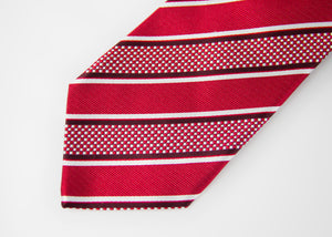 Etro Milano Striped Red Silk Tie - secondfirst