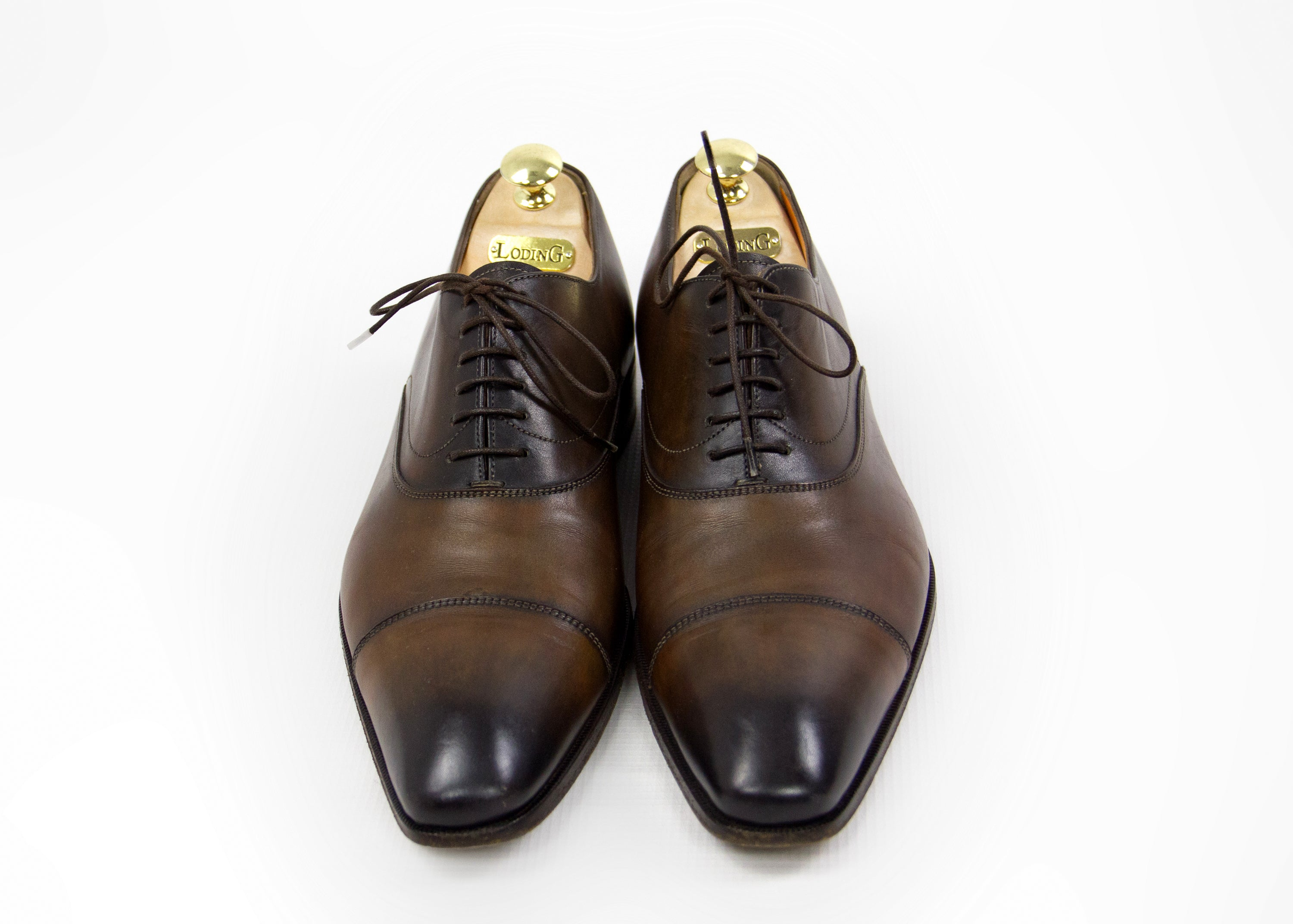 SANTONI Cap Toe Oxford Shoes USA 9.5 - secondfirst