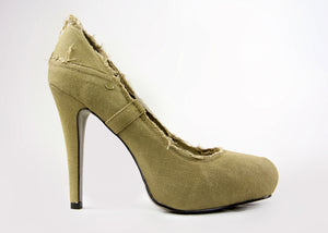 ASH Electra Military Green Stiletto Heel Pumps SIZE EU 38, USA 8 - secondfirst