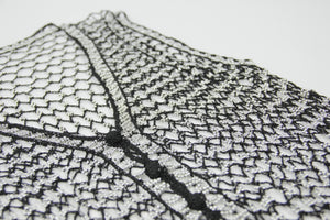 Black Fishnet Beaded Vest, Size S-L