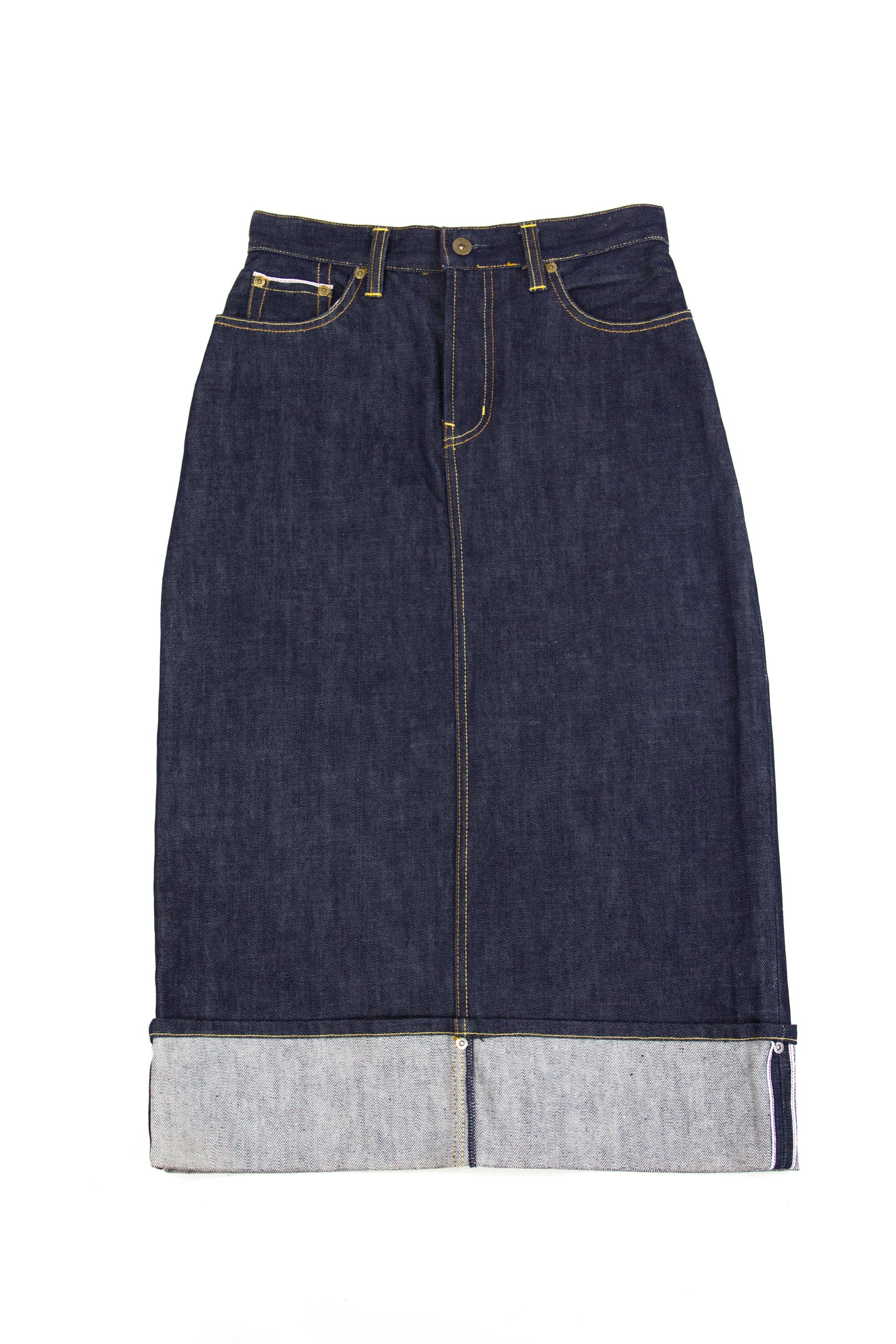 PEPE JEANS Selvage Denim Midi Skirt USA 28, UK 10, M - secondfirst