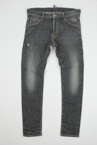 Dsquared2 Men's Skinny Leg Stonewashed Black Jeans, SIZE EU 46