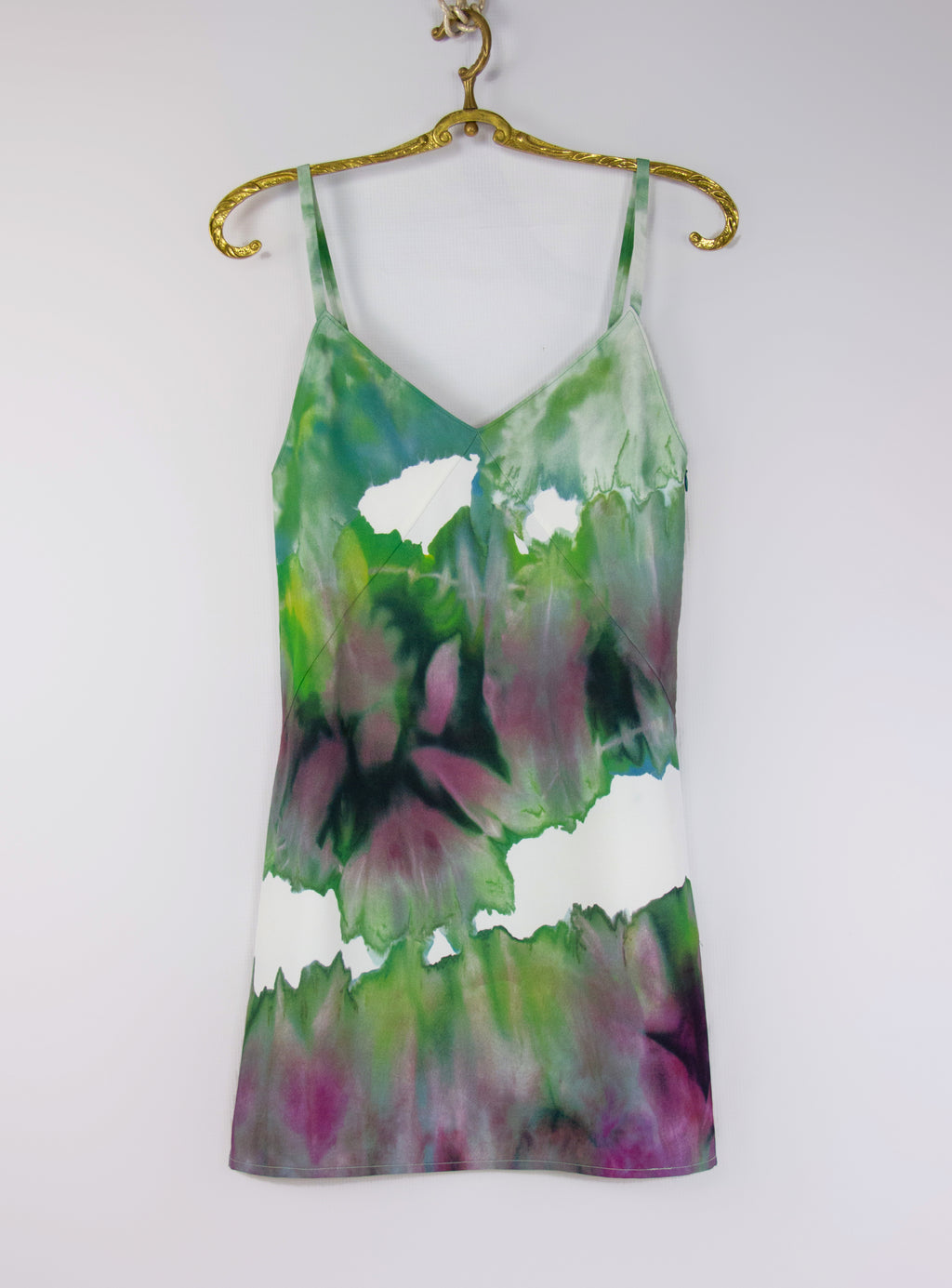 ACNE STUDIOS Green Tie-Dye Sway Mini Slip Dress SIZE XXS - secondfirst