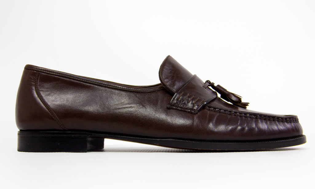 Bally Brown Leather Tassel Loafers USA 11 - secondfirst