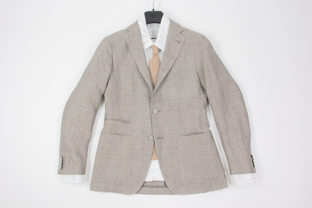 Tagliatore Brown Linen-Cotton Blend 2 Button Sport Coat Blazer US 34R, EU 44R