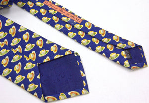 Thomas Pink Silk Tie With Hat Print Motif - secondfirst