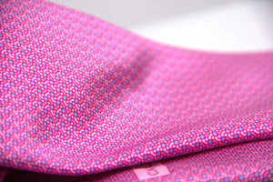Canali Pink Silk Tie With Printed Motif - secondfirst
