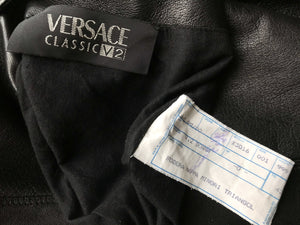 Versace Classic V2 Women's Long Reversible Leather Jacket, SIZE S