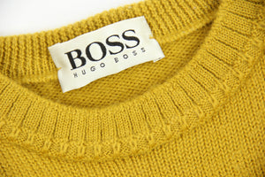 Vintage Hugo Boss Thick Wool Round Neck Sweater, SIZE L