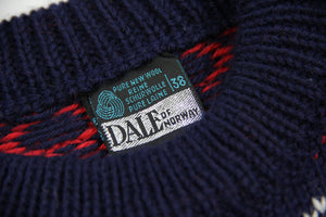 DALE OF NORWAY Blue Wool Nordic Marius Mariusgenser Sweater Size S
