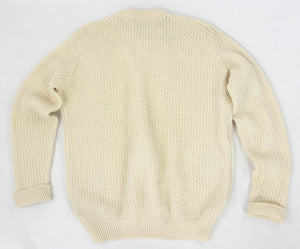 Barbour Cable Knit Wool Fisherman's Sweater, XL