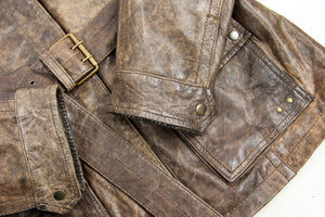 Milestone Lamb Leather Jacket with Shearling Collar, SIZE M - second_first