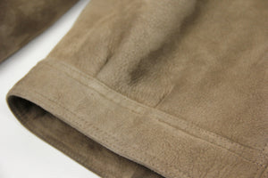 Light Brown Shawl Collar Short Supple Shearling Jacket, SIZE US 42