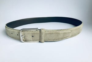"Ermenegildo Zegna Suede Leather Belt, Size 33""/ 83 cm"