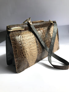 Vintage Esteve Alligator Skin Clutch // Shoulder bag