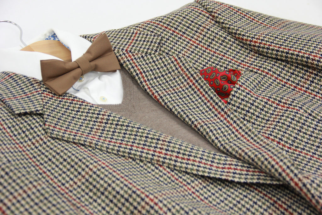 MAGEE Wool Houndstooth Plaid Blazer, US 46R, EU 56R