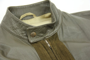 Super Supple Soft Goat Leather And Suede Cafe Racer Jacket SIZE L