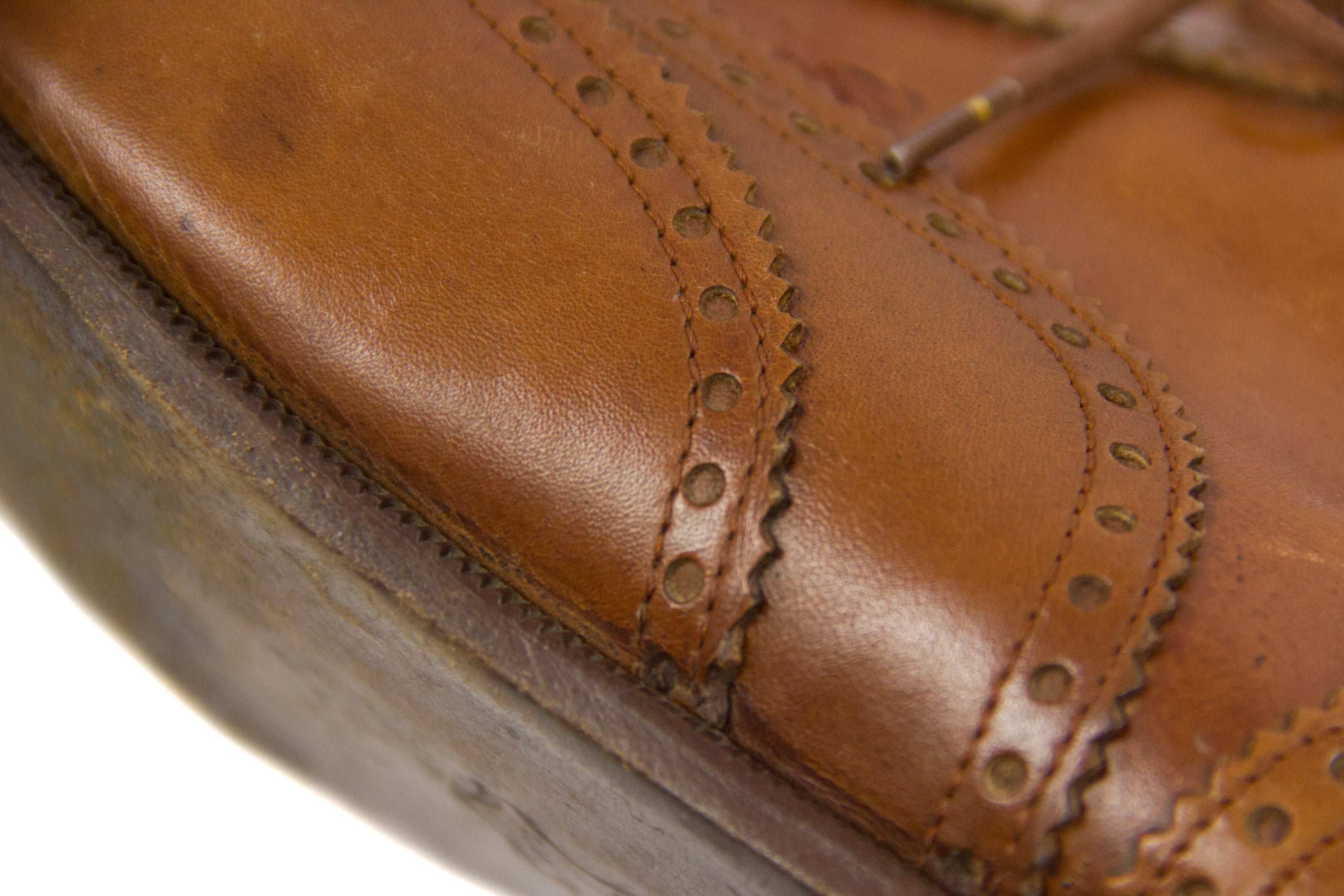 Vintage Italian Leather Wingtip Brogue Oxford Shoes, SIZE US 10.5, EU 44 - secondfirst