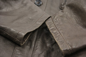 Timberland Brown Lamb Leather Travel Jacket, XXL