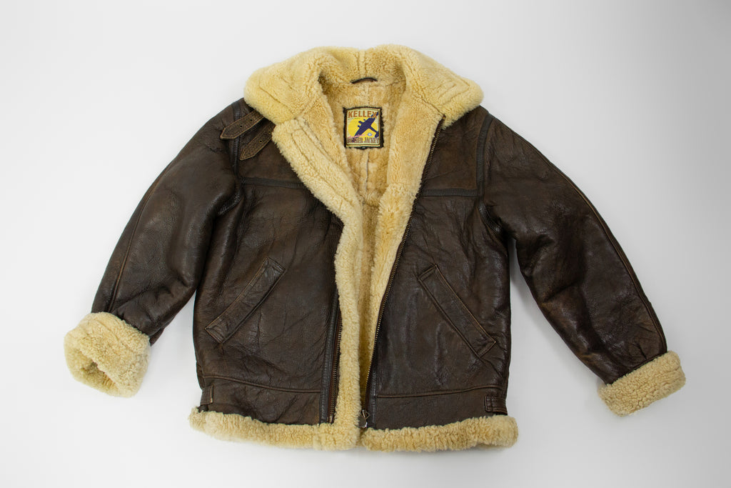 Kellex by Petroff Type-B/Aviator American Bomber Shearling Jacket, M - secondfirst