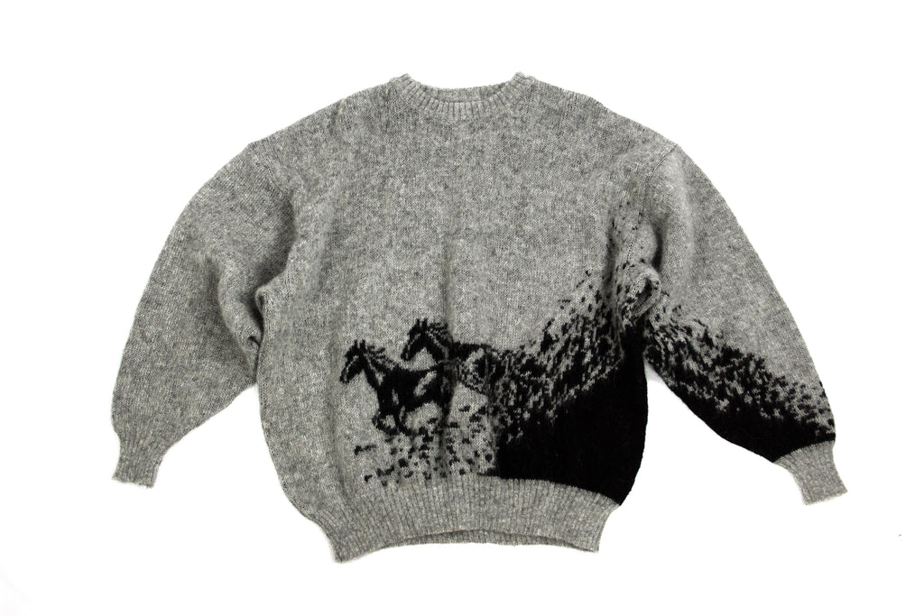 ALAFOSS Iceland Wool Men's Crew Neck Sweater Jumper, XL - second_first