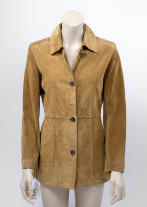 Andrew Marc New York Brown Suede Jacket, SIZE XS - secondfirst