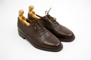 Bally Switzerland Brown Captoe Oxford Shoes, SIZE 8 1/2 - secondfirst