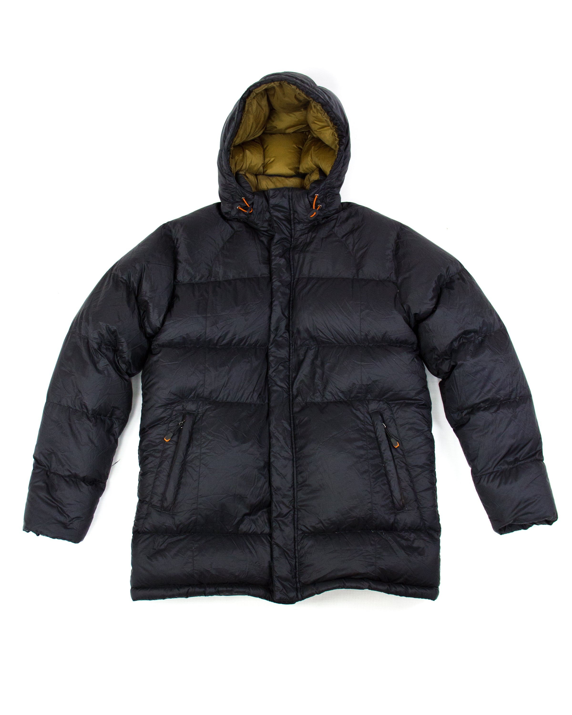 ERMENEGILDO ZEGNA SPORT Ultralight Down Hooded Puffer Jacket Parka, M - secondfirst