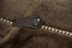 Boecker Men's Brown Shearling Coat, SIZE US 38/ EU 48 - second_first